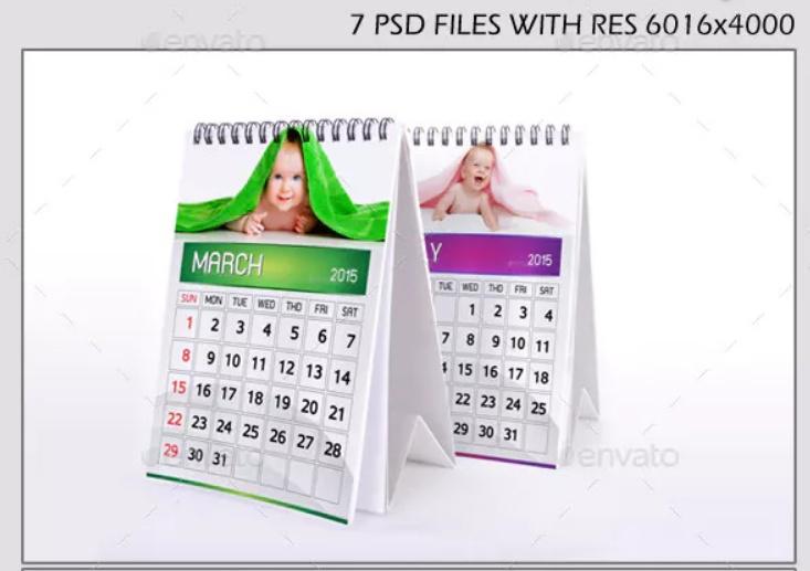 Photo Realistic Calendar Mockup