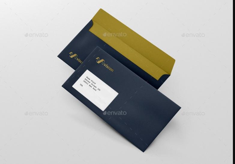 Photo Realistic Envelope Mockup PSD