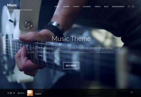 Portfolio Theme for Musicians