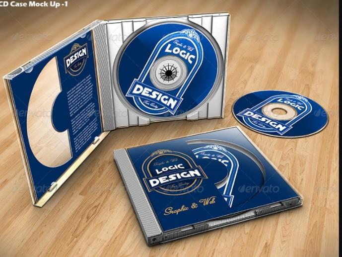 Professional CD Mockup PSD