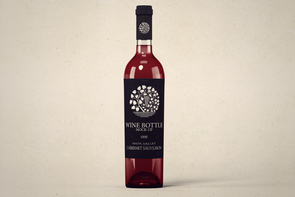 Professional Wine Bottle Mockup