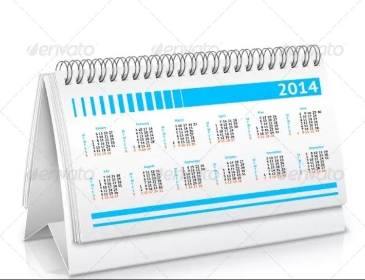 Realistic Calendar Mockup Design