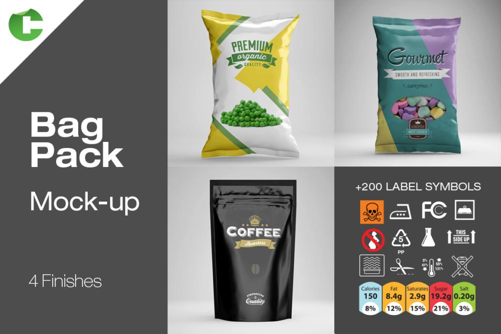 Realistic Food Packaging Mockup