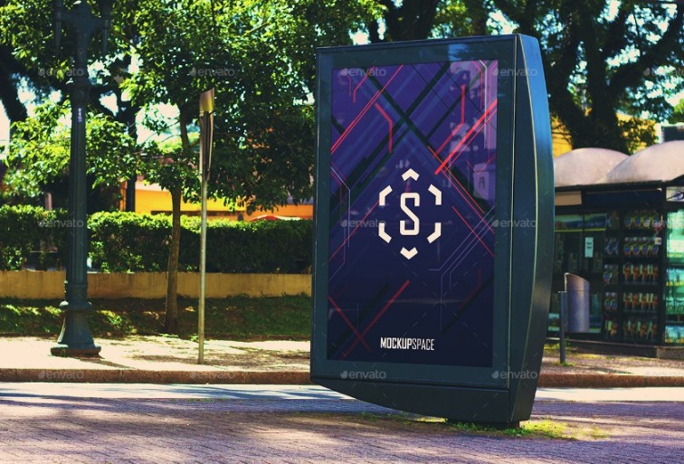 Realistic Outdoor Mockup PSD