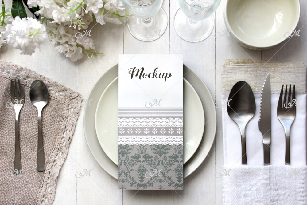 Restaurant Menu Card Mockup