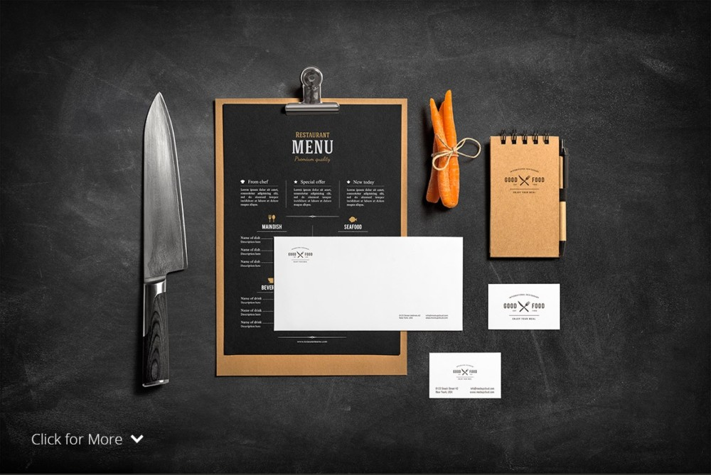Restaurant Stationery Mockup1