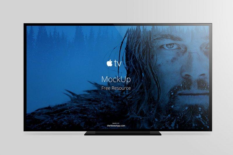 Simple Apple TV Mockup PSD