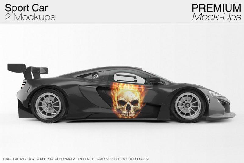 Sports Car Branding Mockup