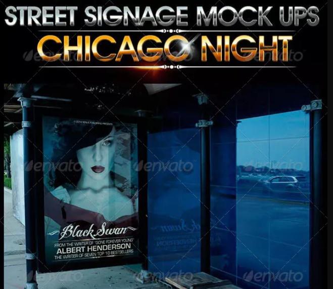 Street Sign Mockup Design