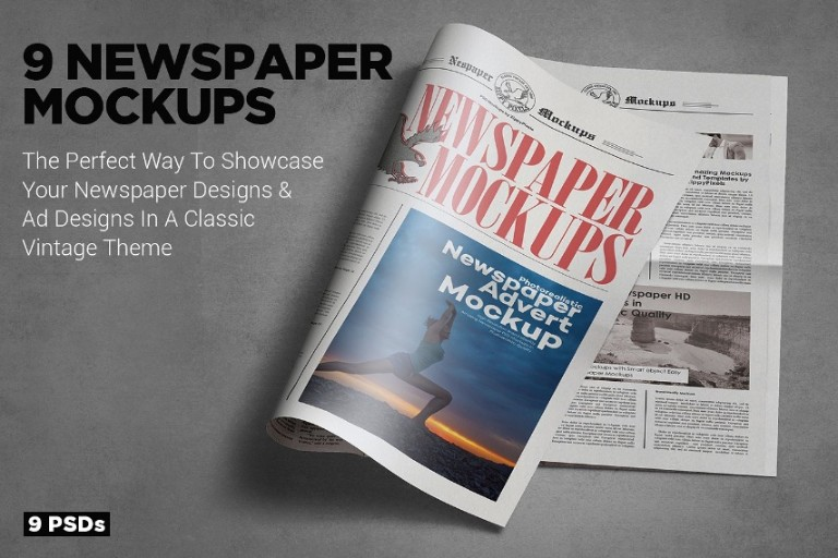 Tabloid Size Newspaper Mockup