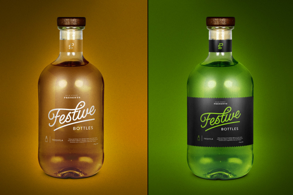 Tequila Bottle Mockup