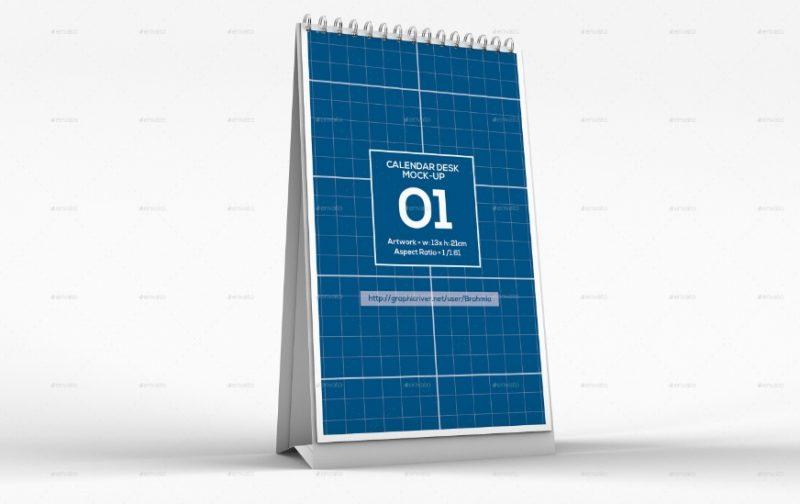 Vertical Calendar Mockup PSD