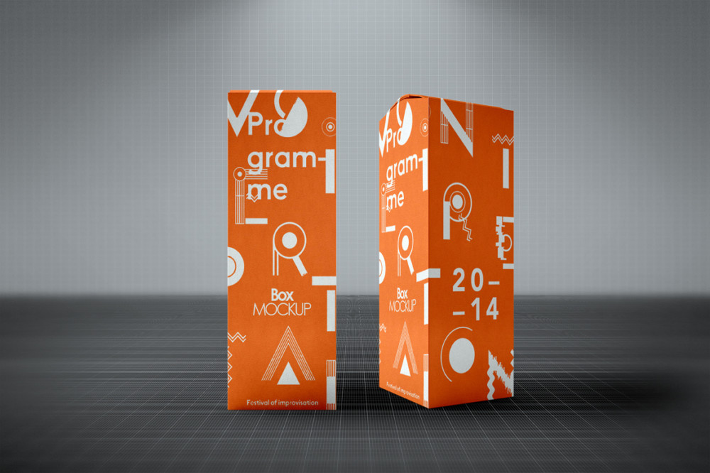Well Organized Product Box Packaging Mockup