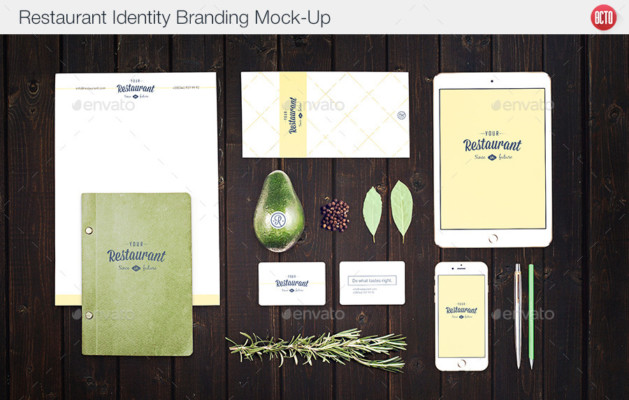 Well Organized Restaurant Mockup