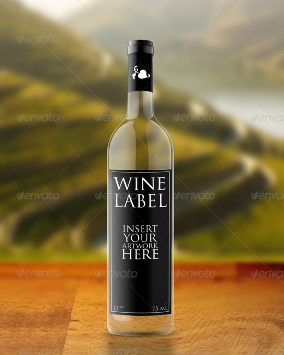 Wine Label Mockup Design
