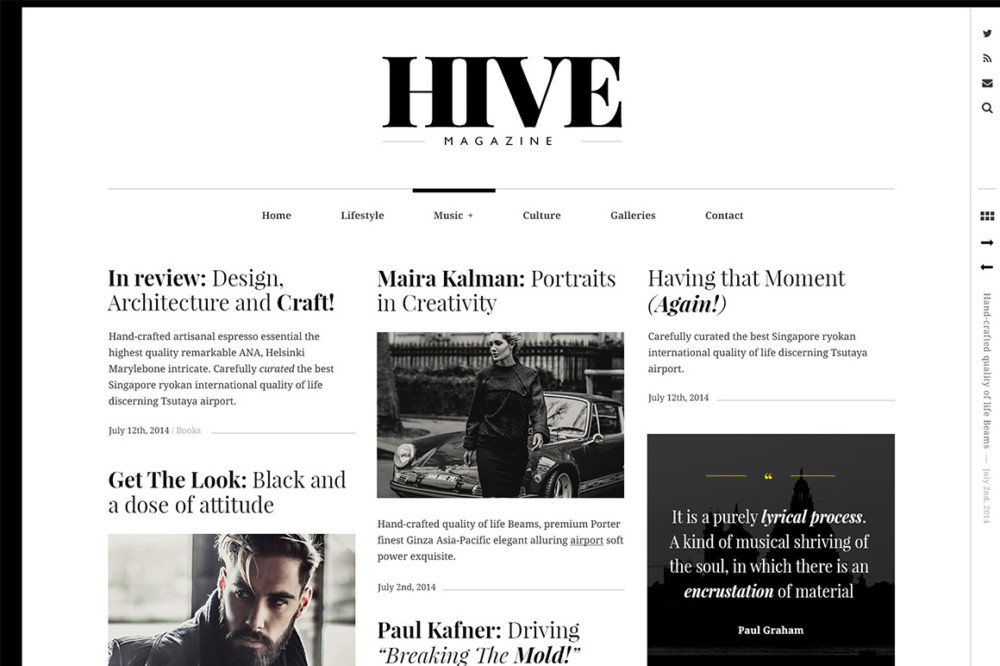 Wordpress Magazine Style Theme