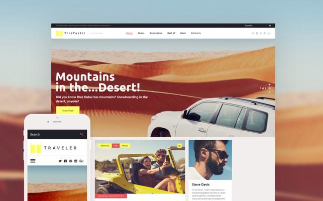 Wordpress Travelling Blog Theme