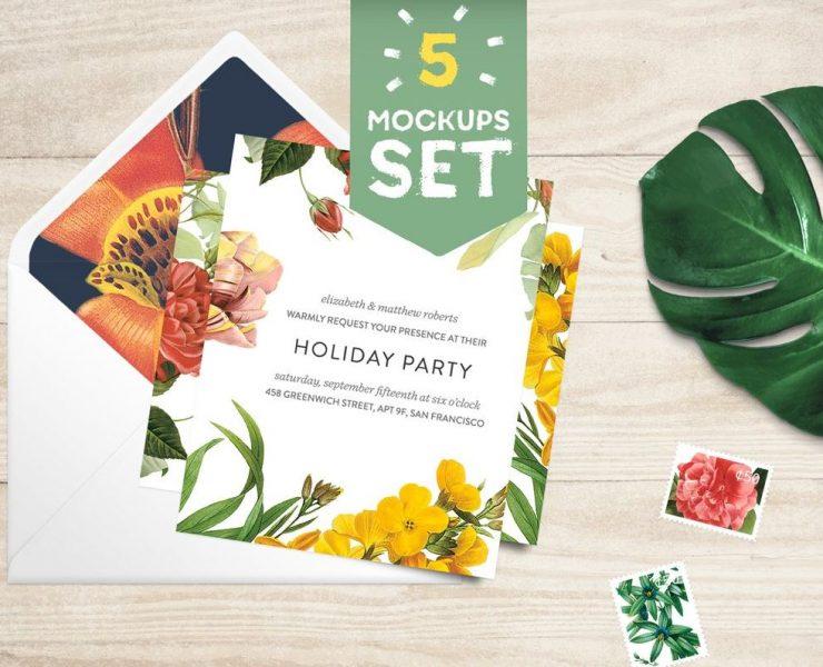 card & envelope mockup set