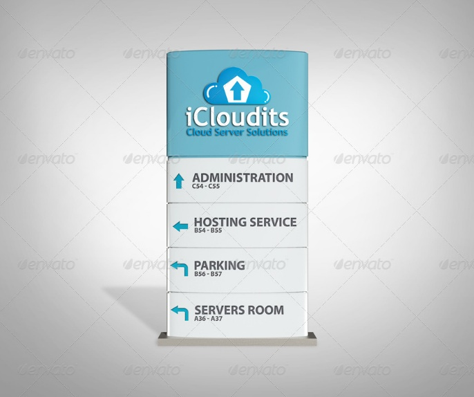 company Pilon Sign Mockup