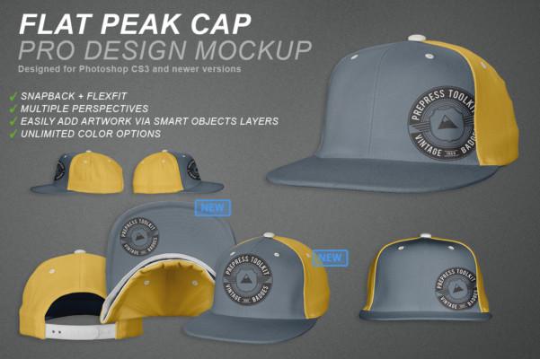 11 Professional Peak Cap Mockups
