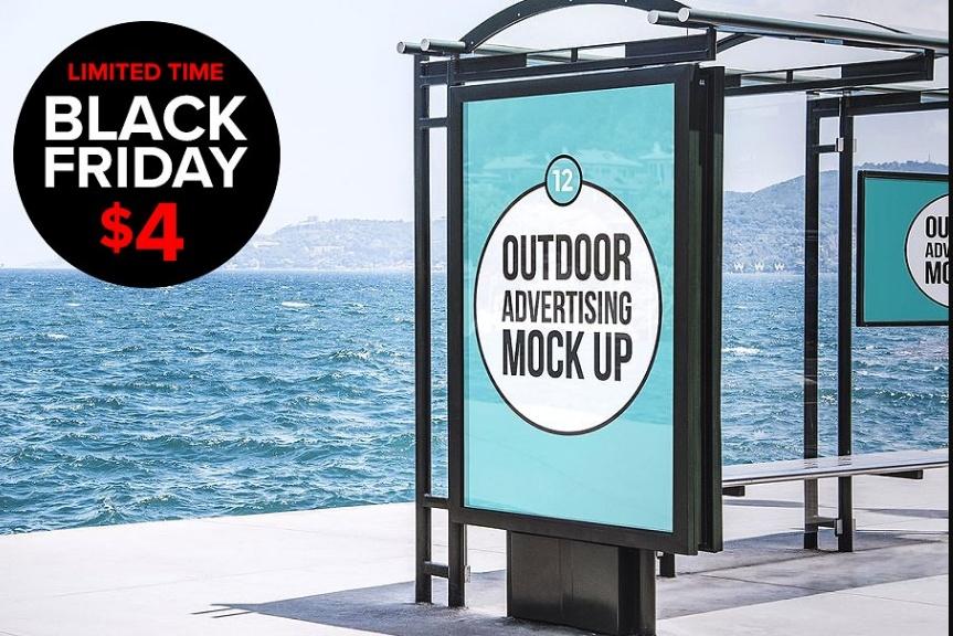 12 Outdoor Advertising Mockup