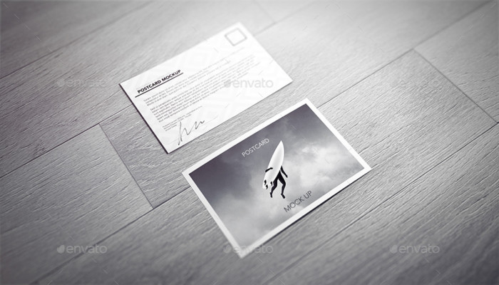 12 Post Card Mockup Templates