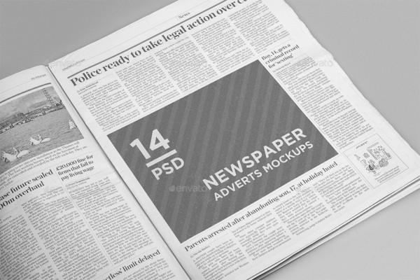 14 PSD Newspaper Mockup Templare