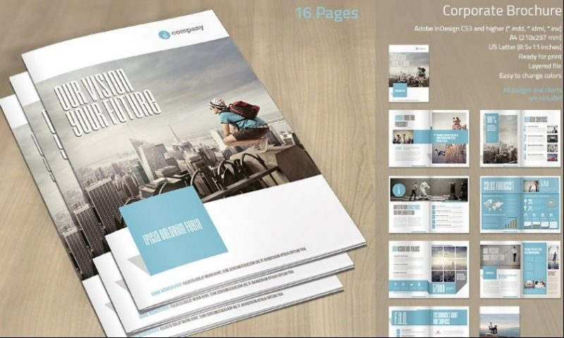 16 Pages Corporate Brochure Template