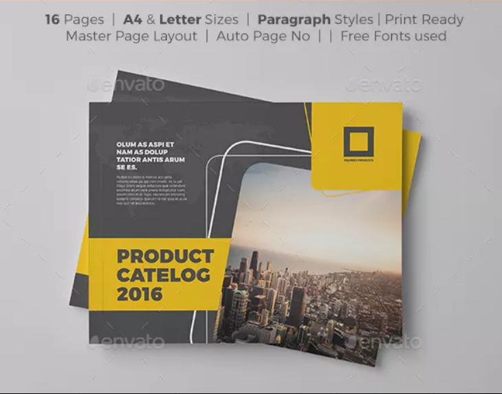 16 Pages Product Brochure Template