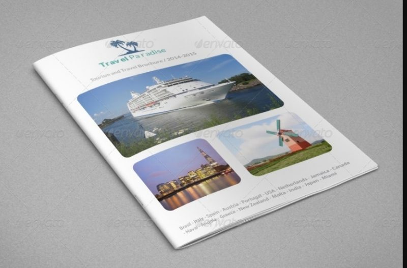 16 pages travel brochure template