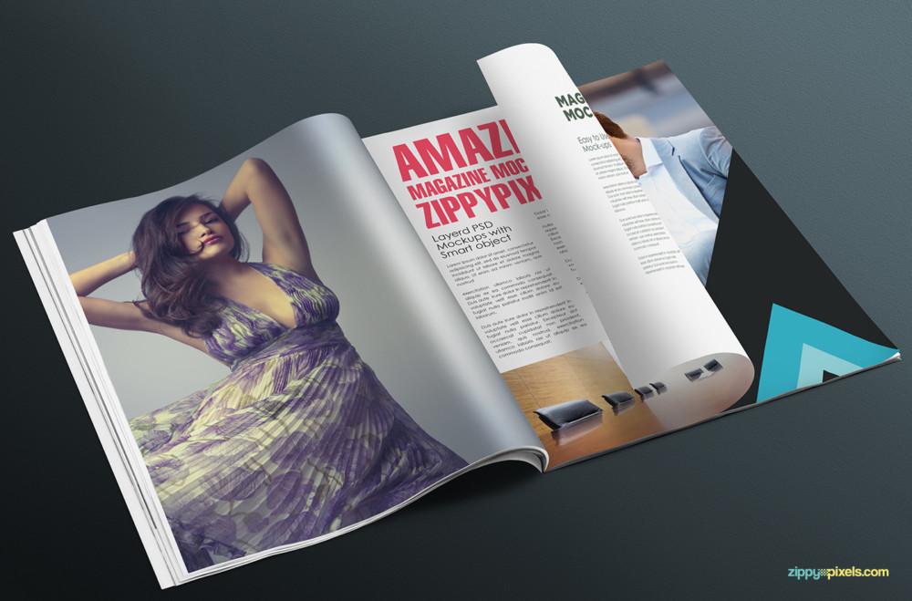 17 Soft Cover Magazine Ad Mockup