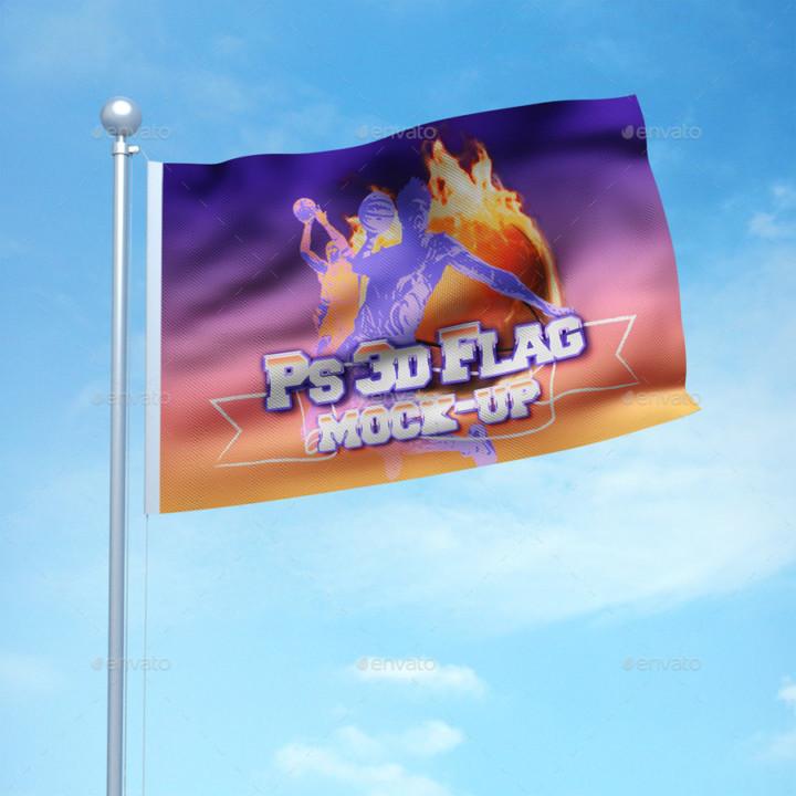 3D Flag Mockup Templates