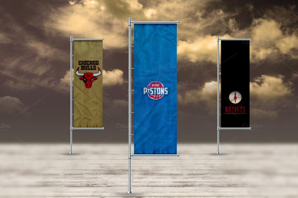 3D Flag Mockup for Branding