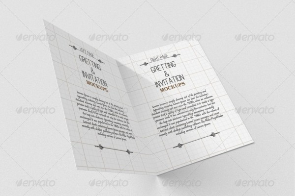 3D Greeting Card Mockup PSD
