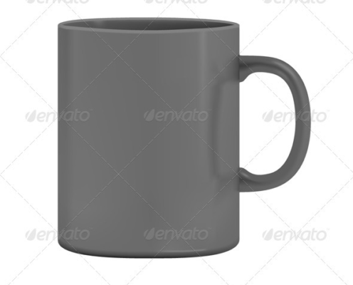 3D Isolated Cup Mockup