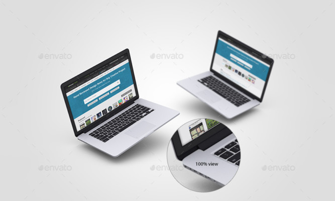 3D Laptop Mockup Template