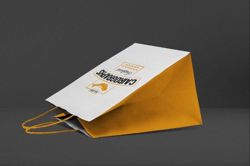 3D Paper Bags Mockup PSD
