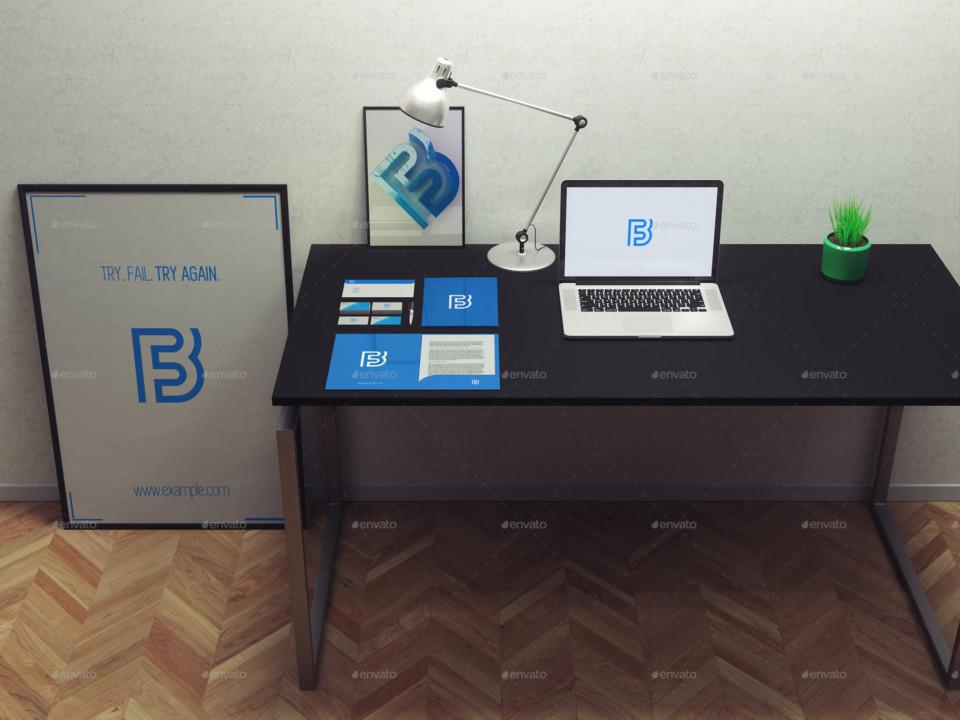 3D Stationary Branding Mockup
