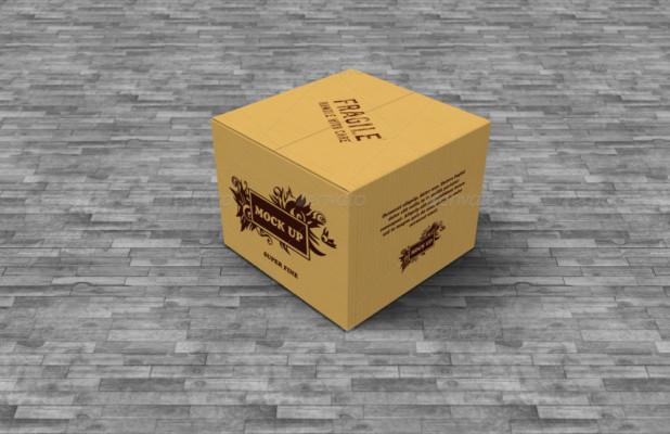 6 Cardboard Box Mockup Template