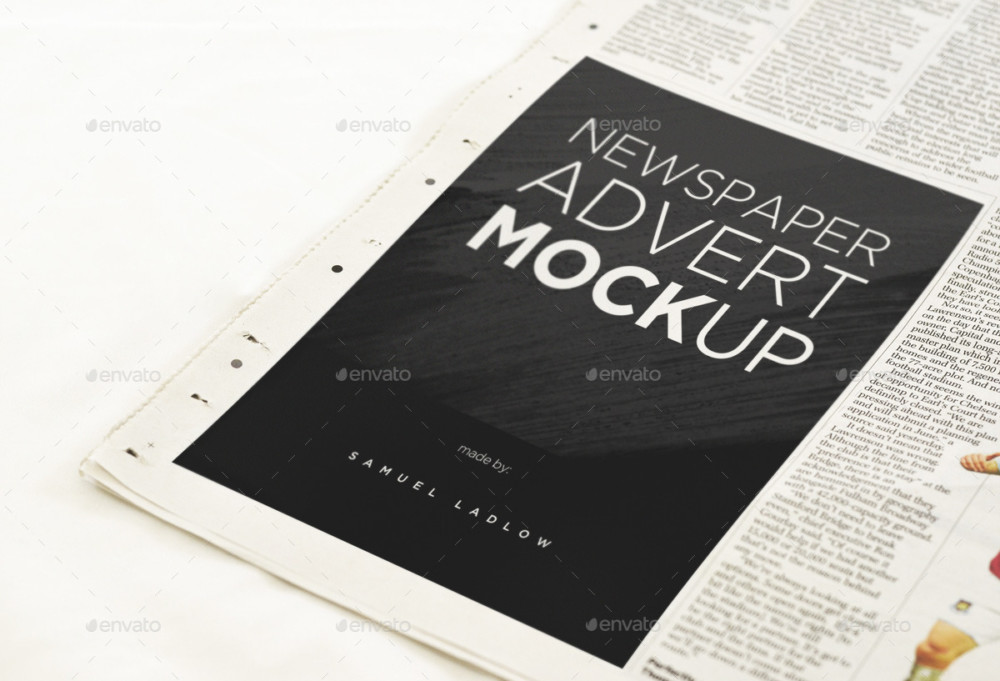 6 Newspaper Mockup Templates