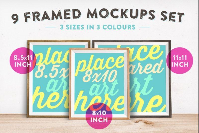 9 Frame Mockup PSD
