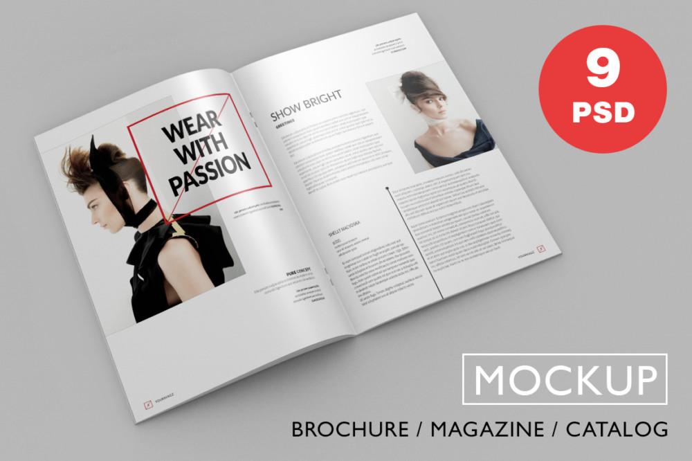 9 PSD Magazine Mockups
