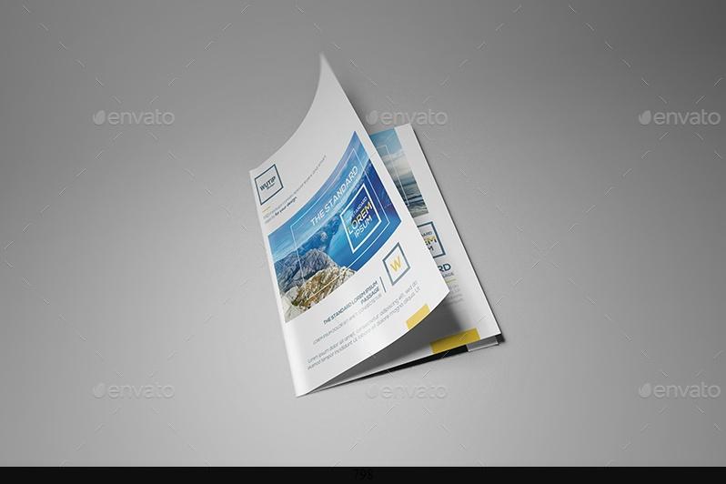 A4 Bi Fold booklet Mockup PSD