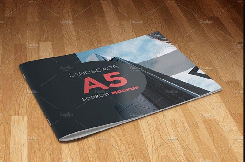 A5 Booklet Mockup PSD