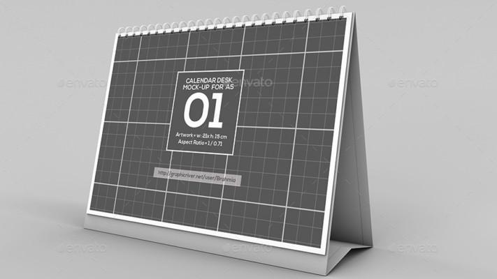 A5 Calendar Mockup PSD Design