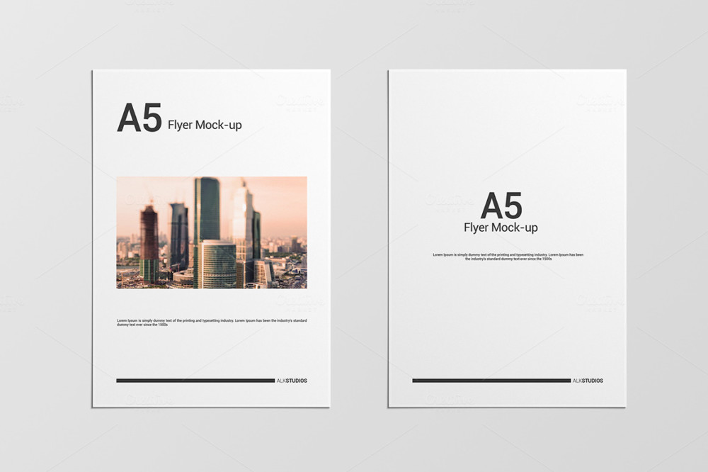 A5 Flyer Mockup Template