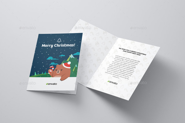 A5 Greeting Card Mockup PSD