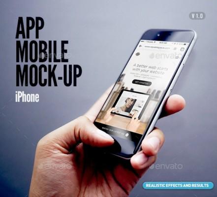 App Mobile Mockup PSD