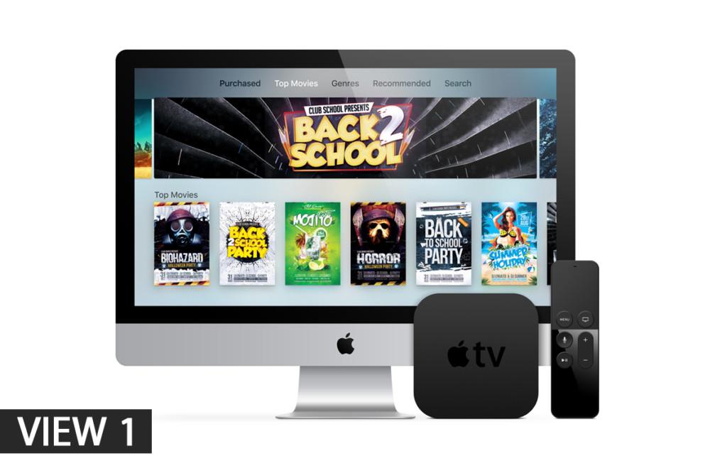 Apple TV Vector Mockup