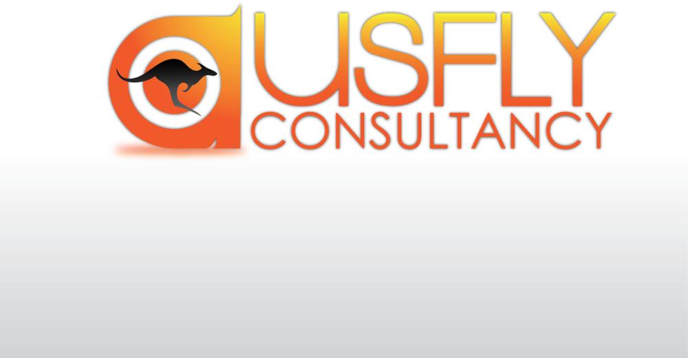 Ausfly Logo Design
